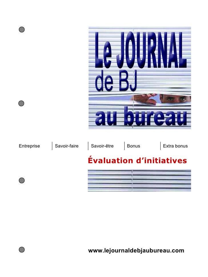 Entreprise   Savoir-faire   Savoir-être   Bonus   Extra bonus                            Évaluation d'initiatives         ...