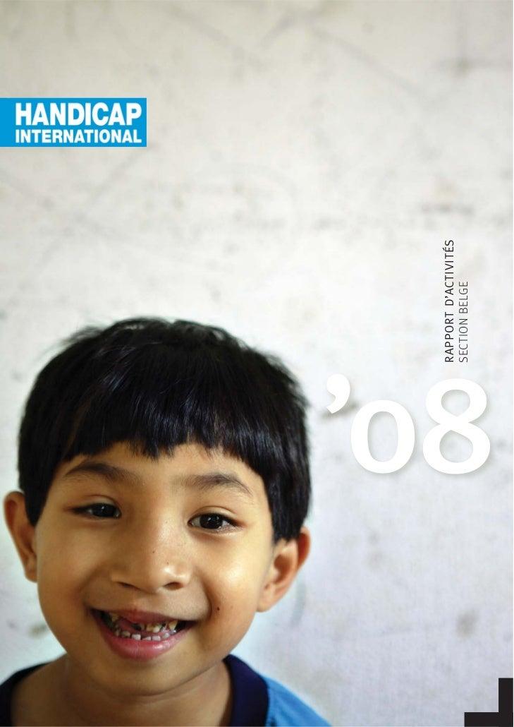 Rapport Annuel Handicap International 2008