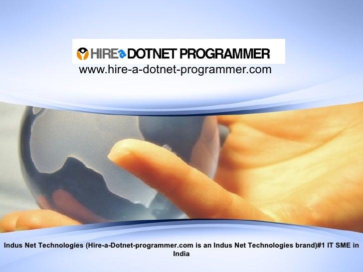 Hire A Dotnet Programmer By Indusnet Technologies