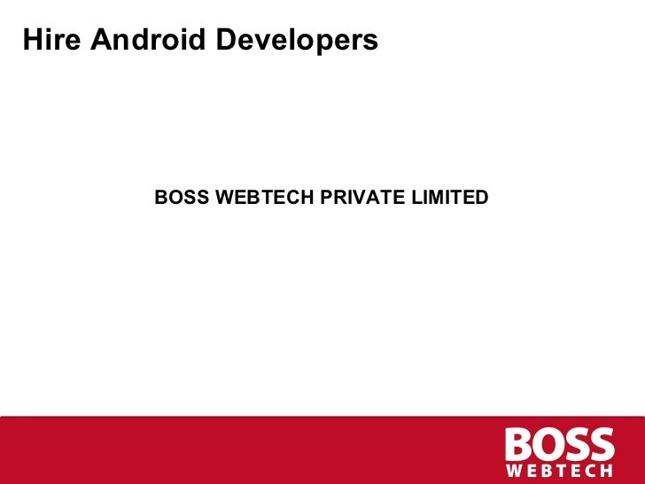 Hire Android Developers