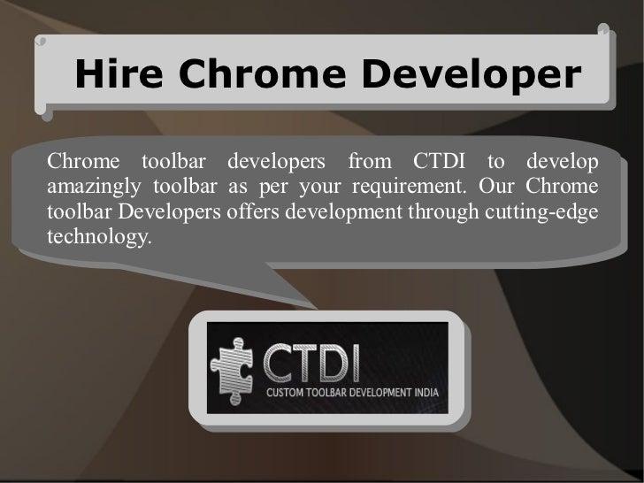 Hire chrome developer