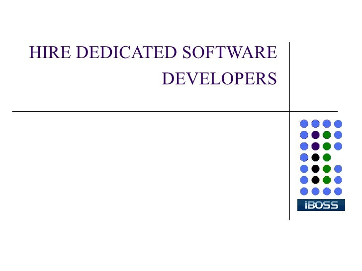 HIRE DEDICATED SOFTWARE DEVELOPERS