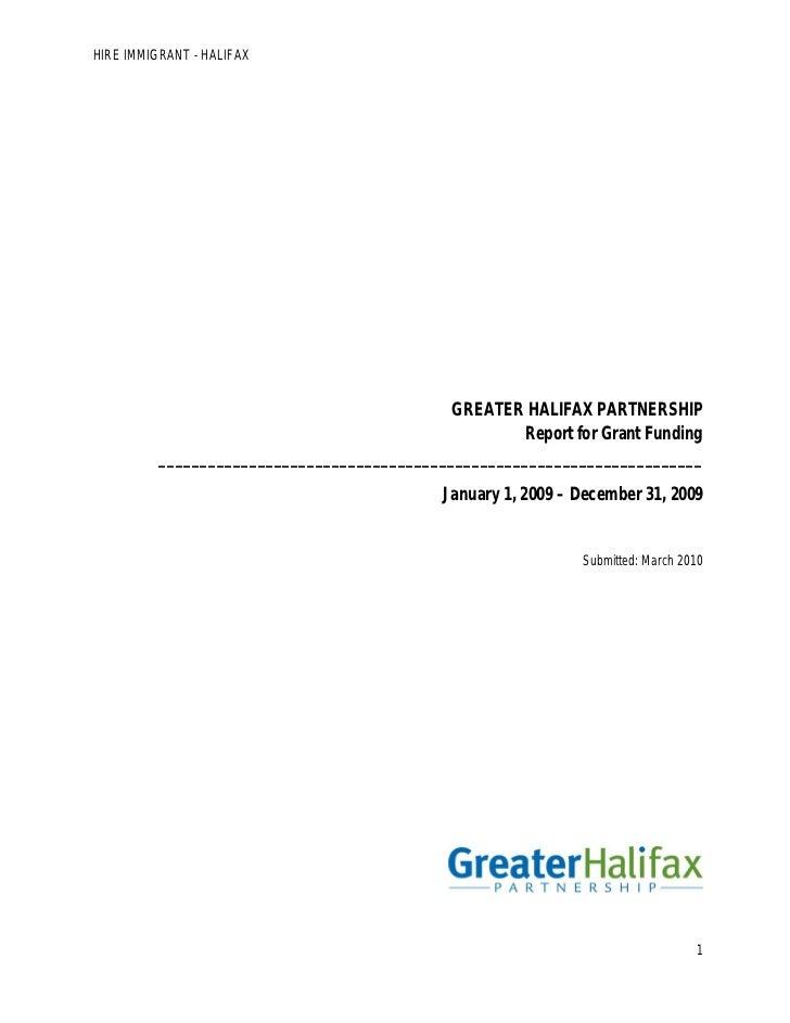 Hire Immigrants Halifax Allies Report 2010