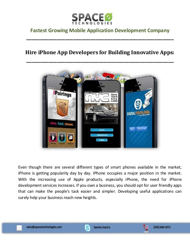 Fastest Growing Mobile Application Development Company _____________________________________________________ Hire iPhone A...