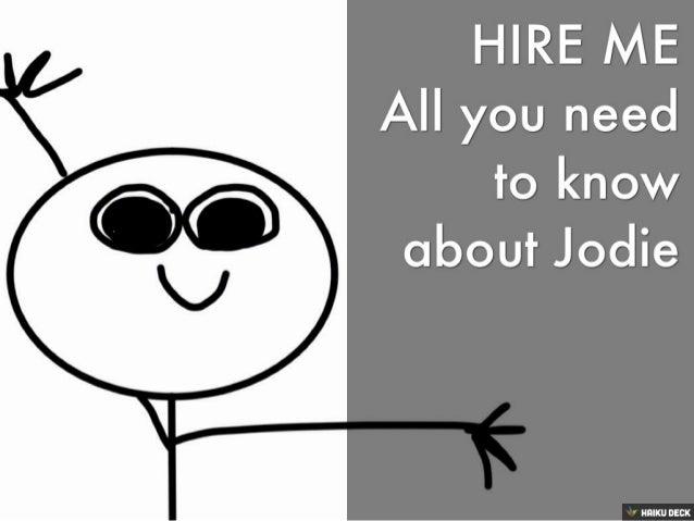 Hire Me: A stick figure CV