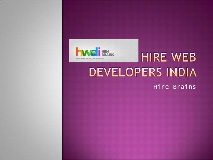 Hire web developers india