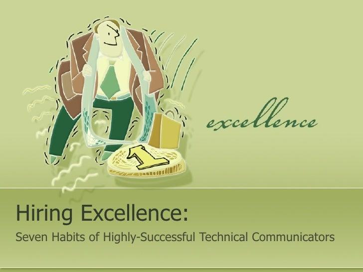 Seven Traits of Successful Technical Communicators