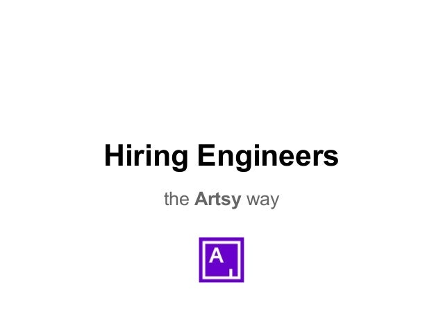 Hiring Engineers the Artsy way