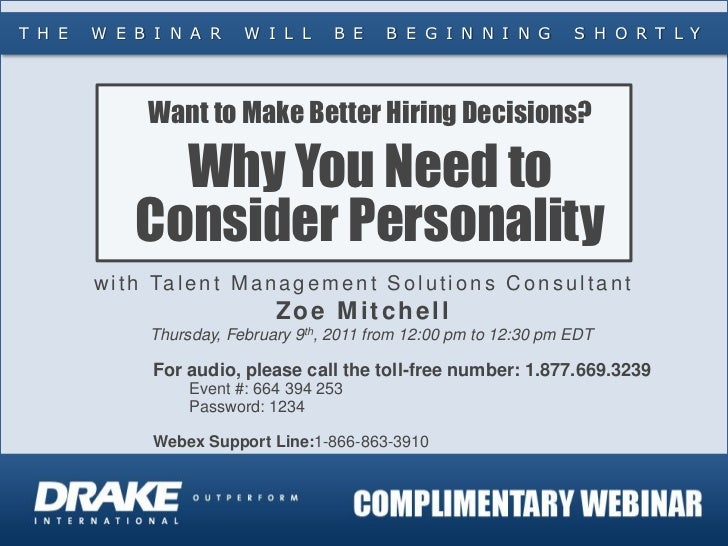 Make Better Hiring Decisions - Consider Personality