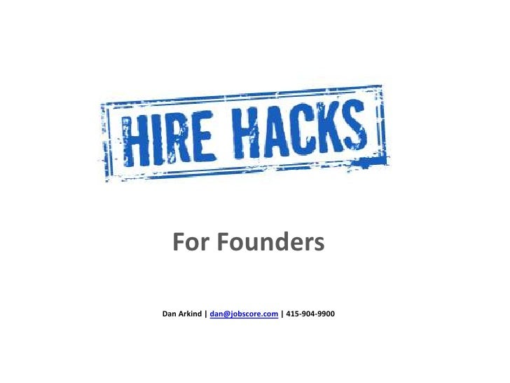 For Founders<br />