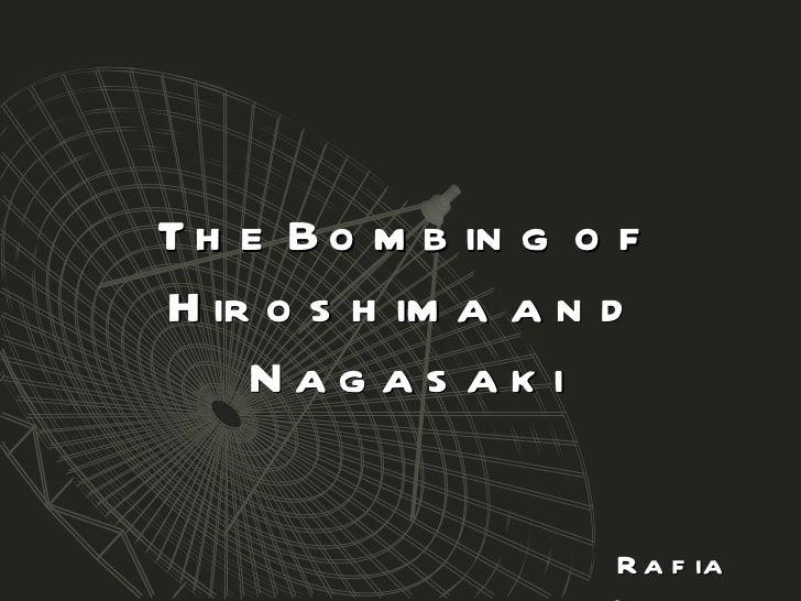 Hiroshima & Nagasaki Bombings