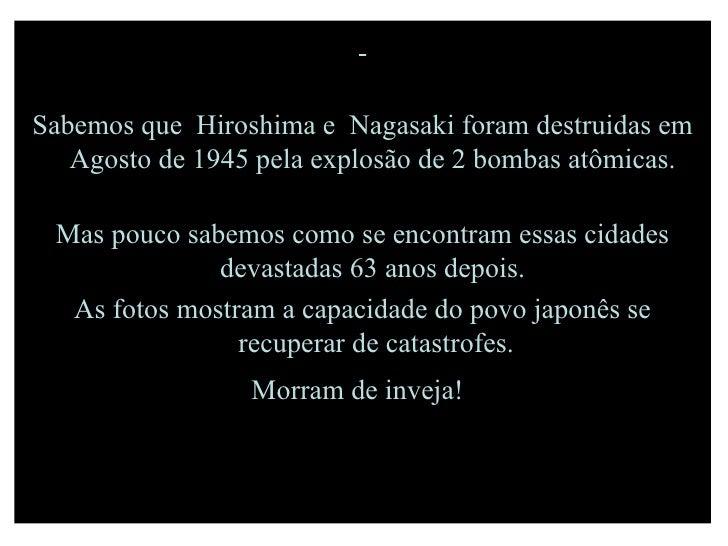 Hiroshima E Nagasaki   Autoria Desconhecida