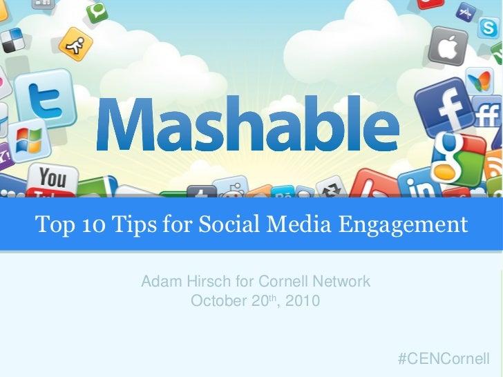 Top 10 Tips for Social Media Engagement