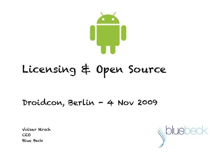 Droidcon Android, Open Source & Brands