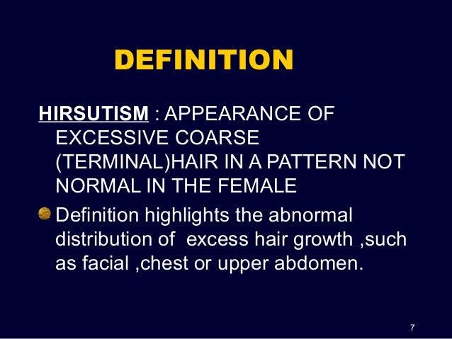 Image result for hirsutism medical definition