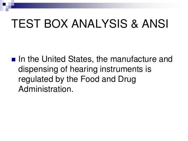 HIS - 140 - Lesson 2 - Test Box Analysis and ANSI PowerPoint