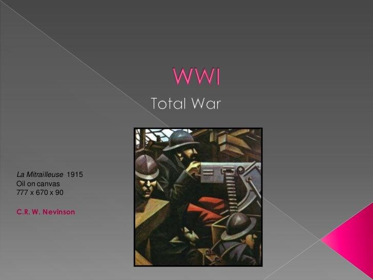 La Mitrailleuse 1915Oil on canvas777 x 670 x 90C.R. W. Nevinson