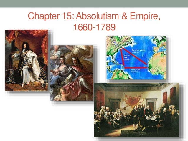 Chapter 15: Absolutism & Empire, 1660-1789