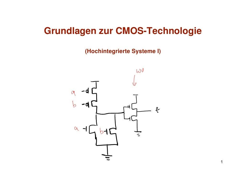 Grundlagen zur CMOS-TechnologieG   dl         CMOS T h l i        (Hochintegrierte Systeme I)                             ...