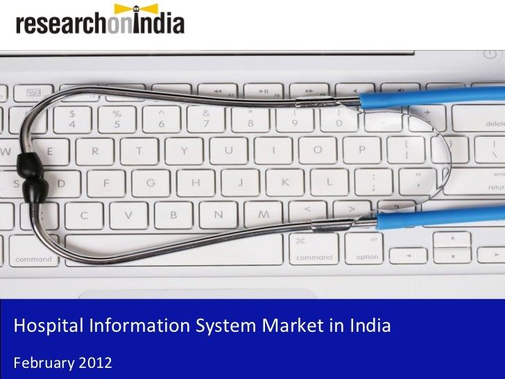Insert Cover Image using Slide Master View                               Do not distortHospital Information System Market ...