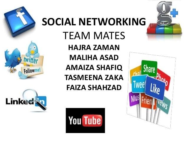 SOCIAL NETWORKING TEAM MATES HAJRA ZAMAN MALIHA ASAD AMAIZA SHAFIQ TASMEENA ZAKA FAIZA SHAHZAD