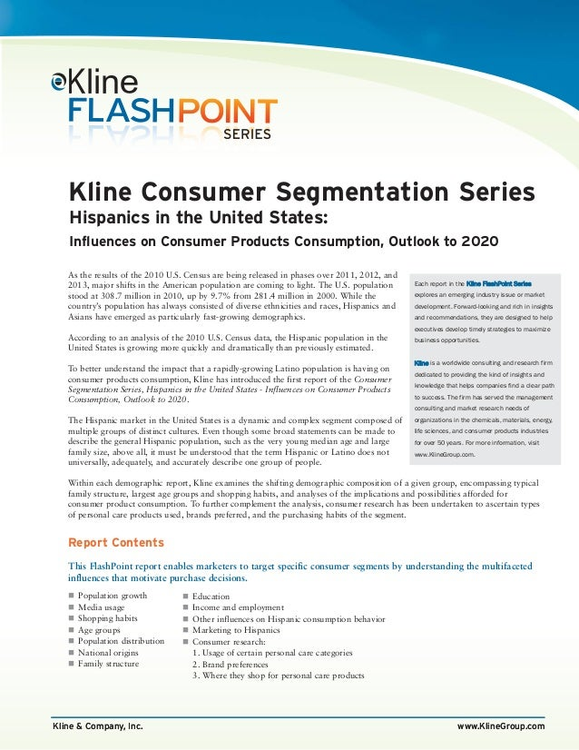 Kline & Company, Inc. www.KlineGroup.com As the results of the 2010 U.S. Census are being released in phases over 2011, 20...