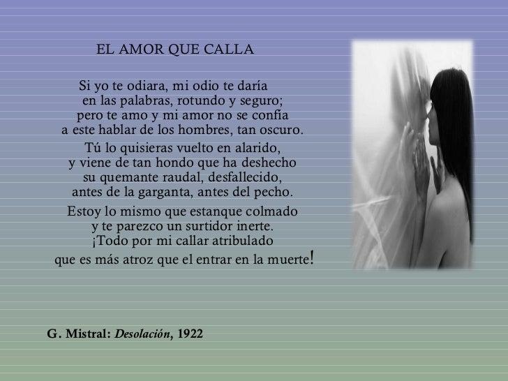 Gabriela Mistral el amor que calla