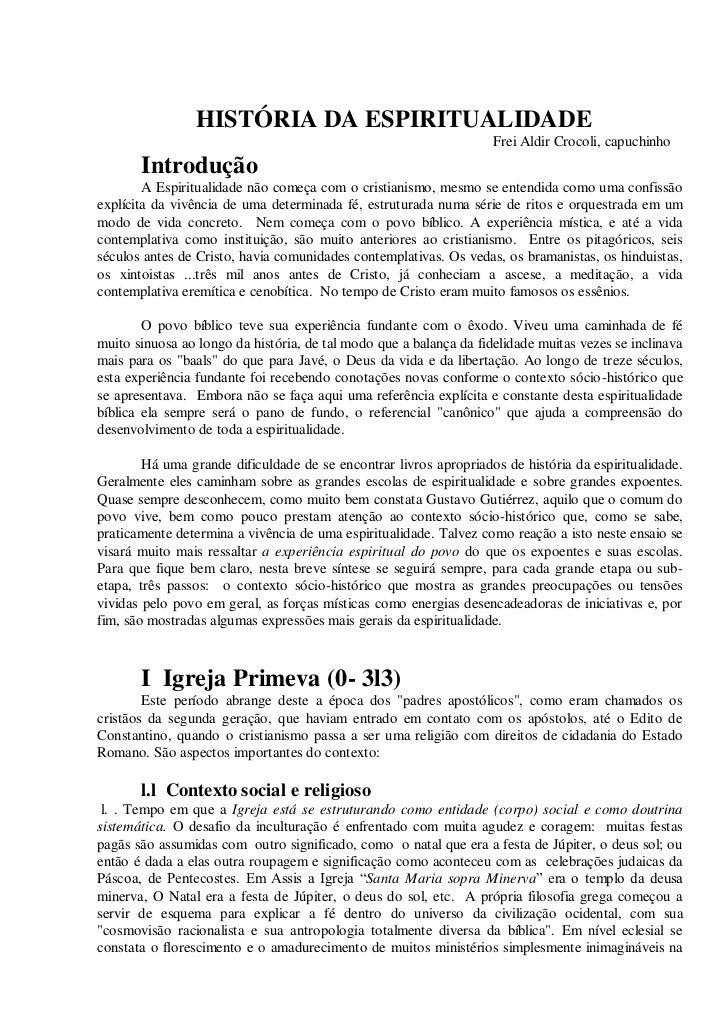 Historia da espiritualidade [1] / Aldir Crocoli