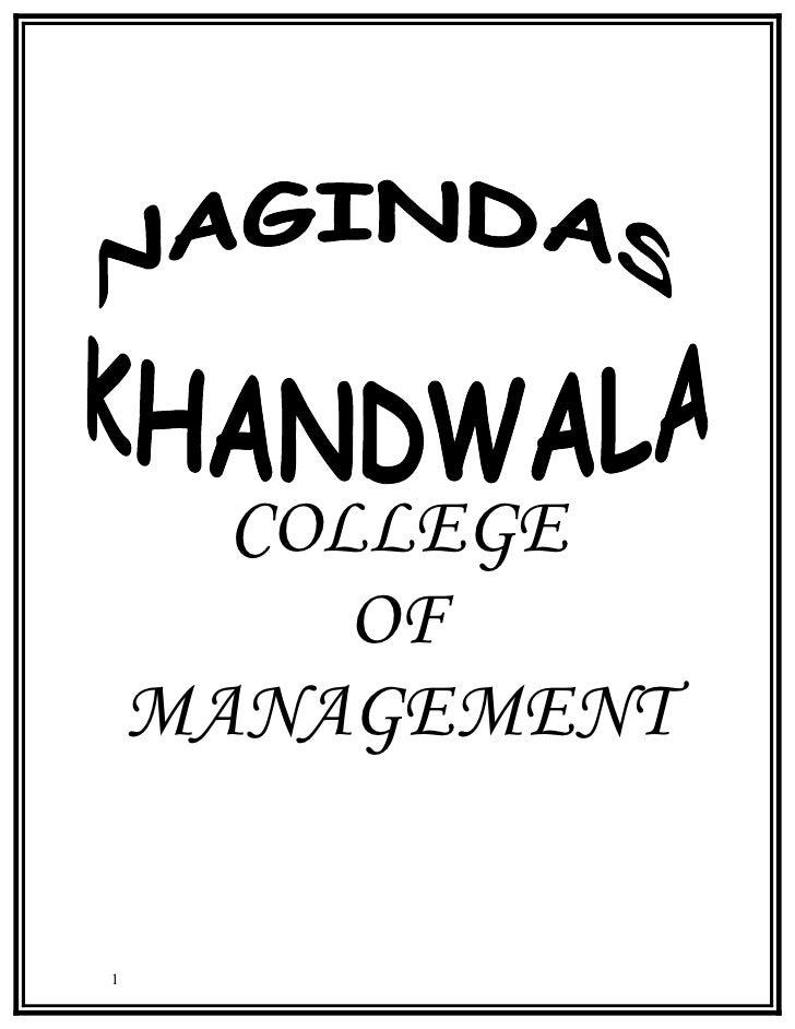 COLLEGE          OF     MANAGEMENT   1