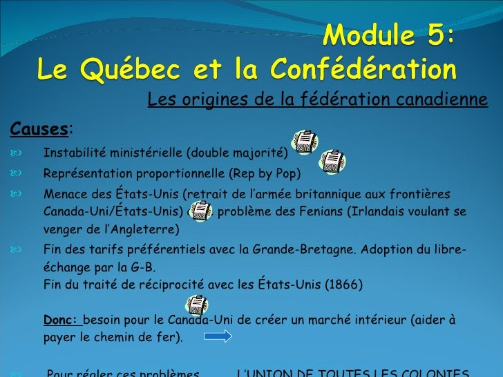 <ul><li>Les origines de la fédération canadienne </li></ul><ul><li>Causes : </li></ul><ul><li>Instabilité  ministérielle (...