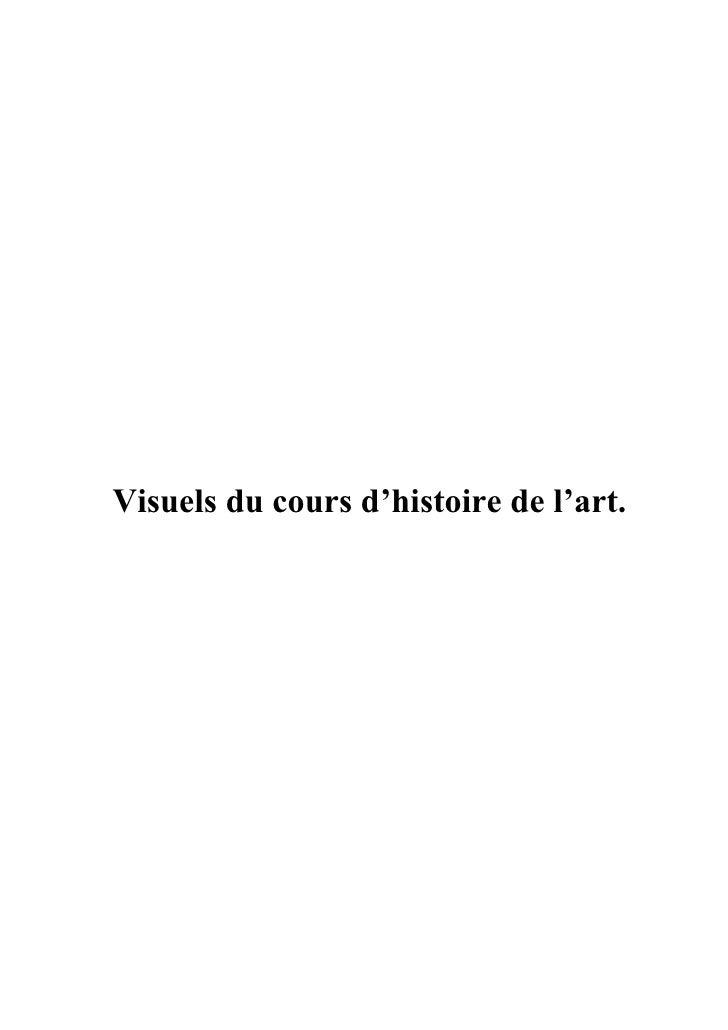 Visuels du cours d'histoire de l'art.