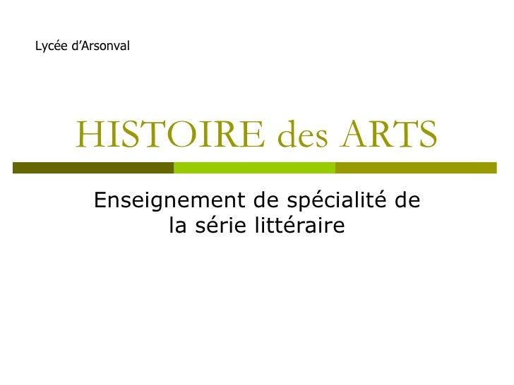Histoire Des Arts Presentation 09 2009
