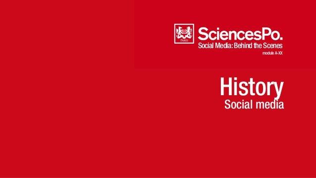 SocialMedia:BehindtheScenes moduleA-XX History Social media