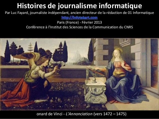 Histoires du journalisme informatique - Conférence à l'Institut des Sciences de la Communication du CNRS (ISCC)