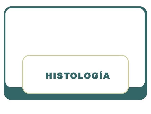 Histología. Los tejidos del cuerpo Humano