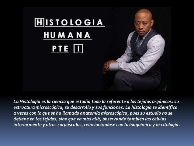 La Histología es la ciencia que estudia todo lo referente a los tejidos orgánicos: suestructura microscópica, su desarroll...
