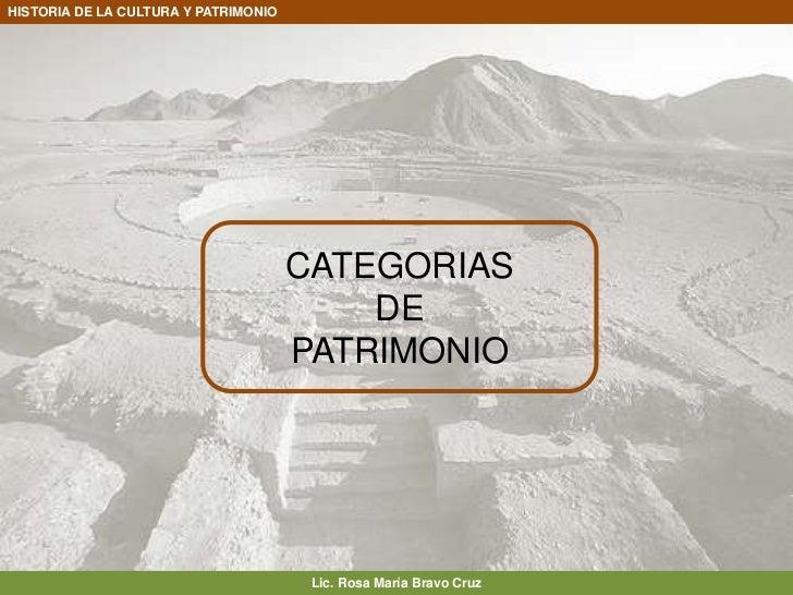 CATEGORIAS <br />DE <br />PATRIMONIO<br />