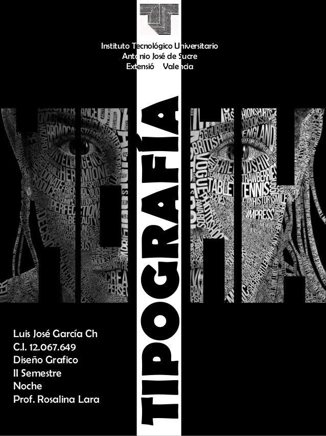 Histora tipografia- LUIS GARCIA