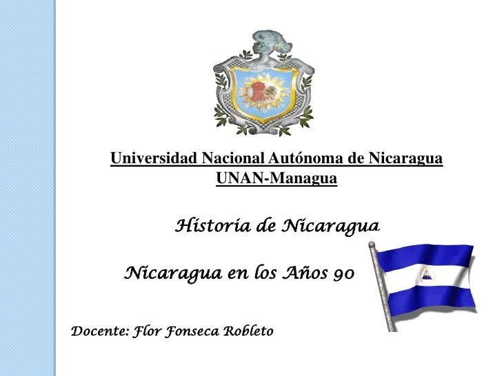 Historia de Nicaragua en los años 90