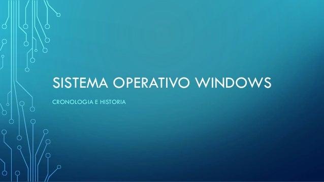 SISTEMA OPERATIVO WINDOWS CRONOLOGIA E HISTORIA