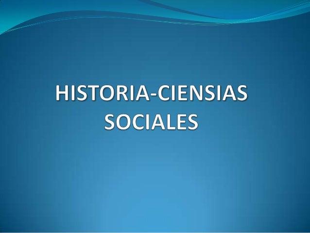 Historia Ciensias Sociales