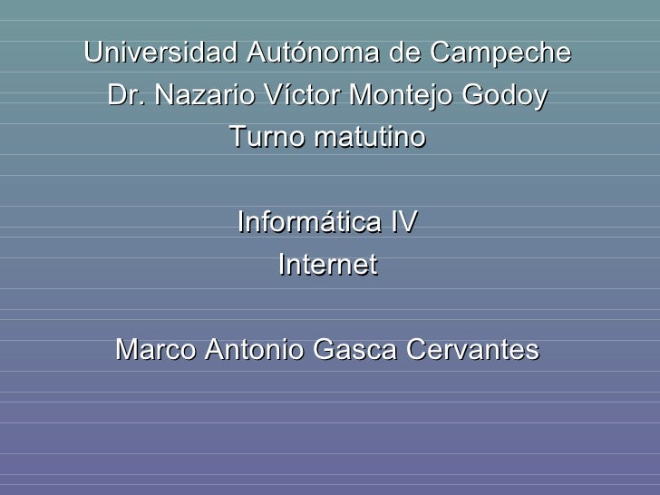 Historia De Internet.Marco