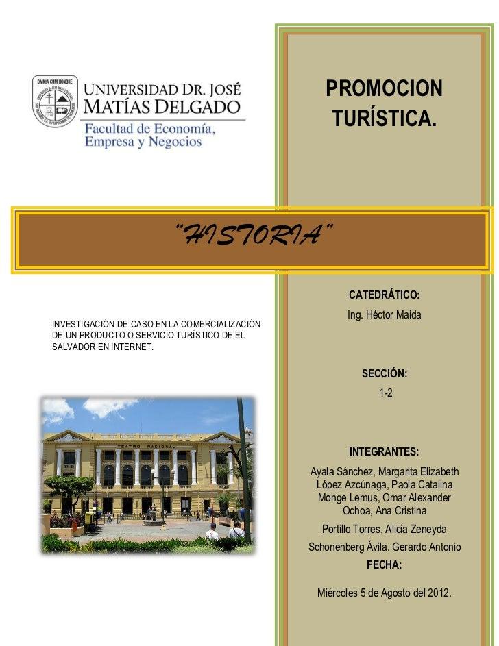 Promocion Turistica de Historia El Salvador