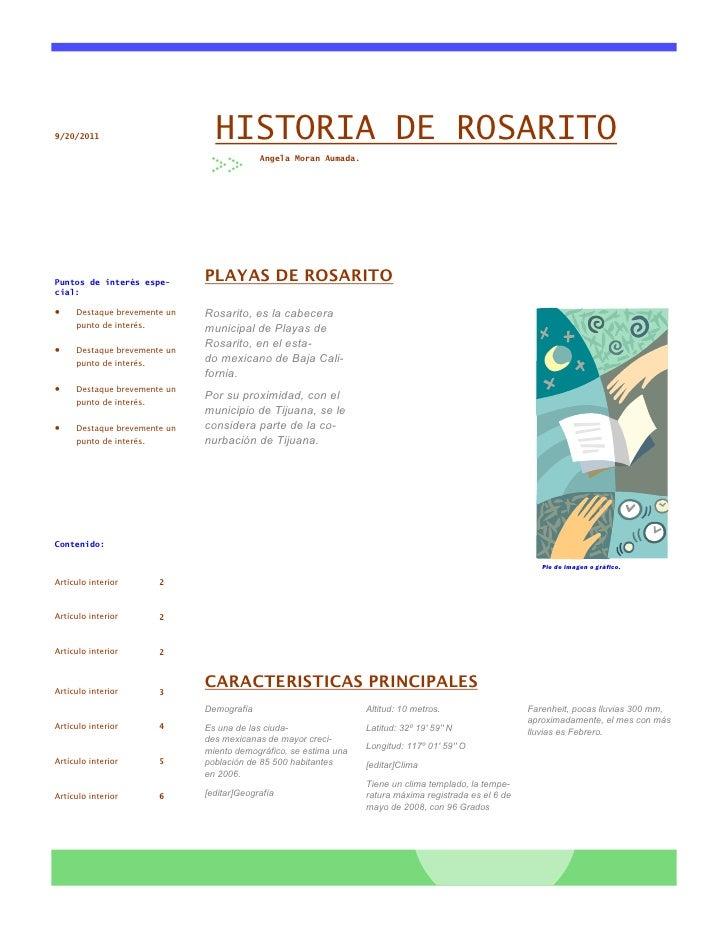 9/20/2011                       HISTORIA DE ROSARITO                                           Angela Moran Aumada.Puntos ...