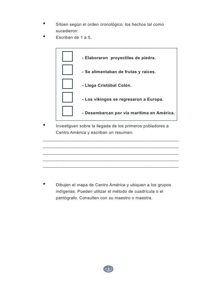 •    Sitúen según el orden cronológico; los hechos tal como      sucedieron: •    Escriban de 1 a 5.                      ...