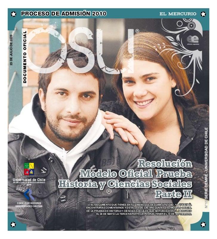 DEMRE: [Respuestas 2] historia PSU 2009