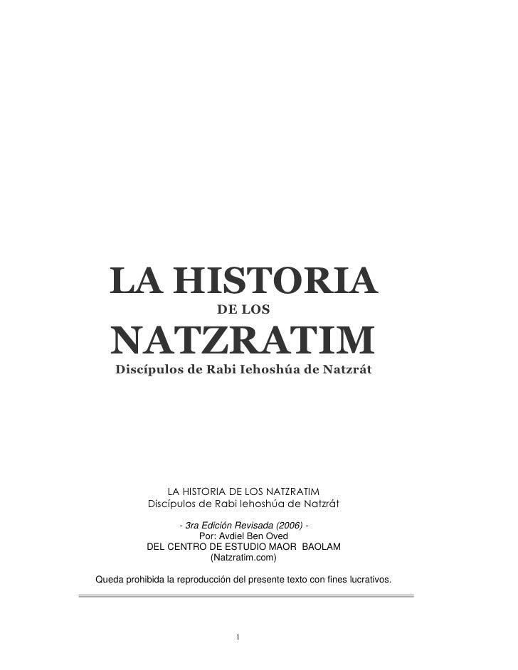 La Historia de los Natzratim