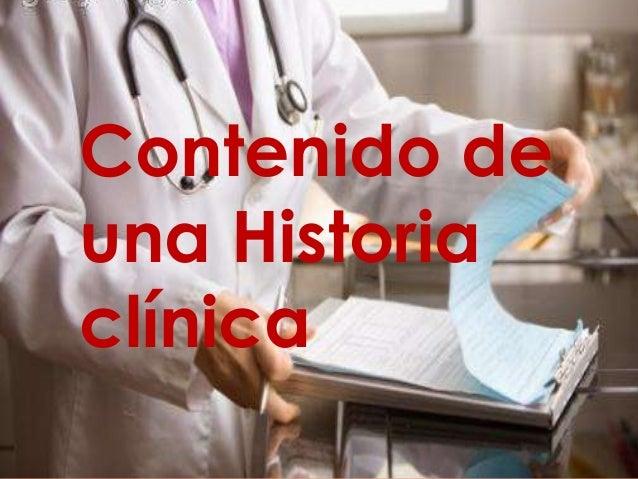  Contenido de una Historia clínica