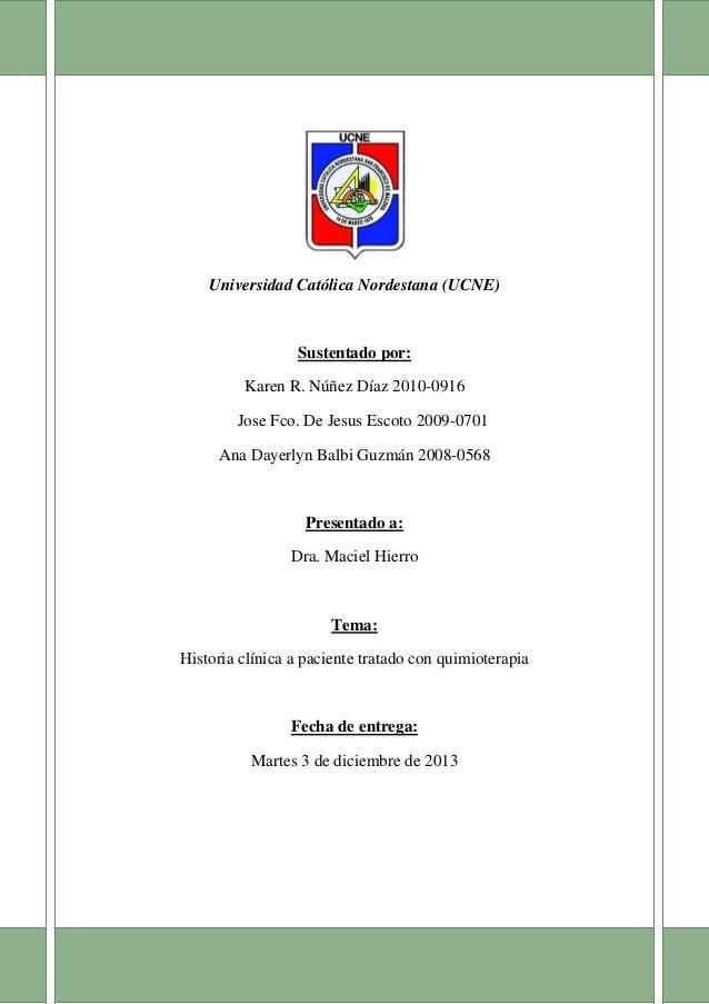 [Escribir el nombre de la compañía] 1 [Escribir el título del documento]  Universidad Católica Nordestana (UCNE)  Sustenta...