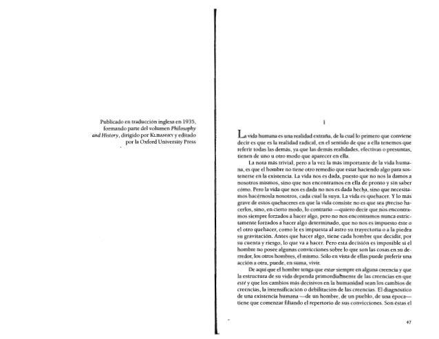 Ortega y Gasset ,Historia como sistema